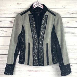WHBM Sequin Lace Herringbone Jacket
